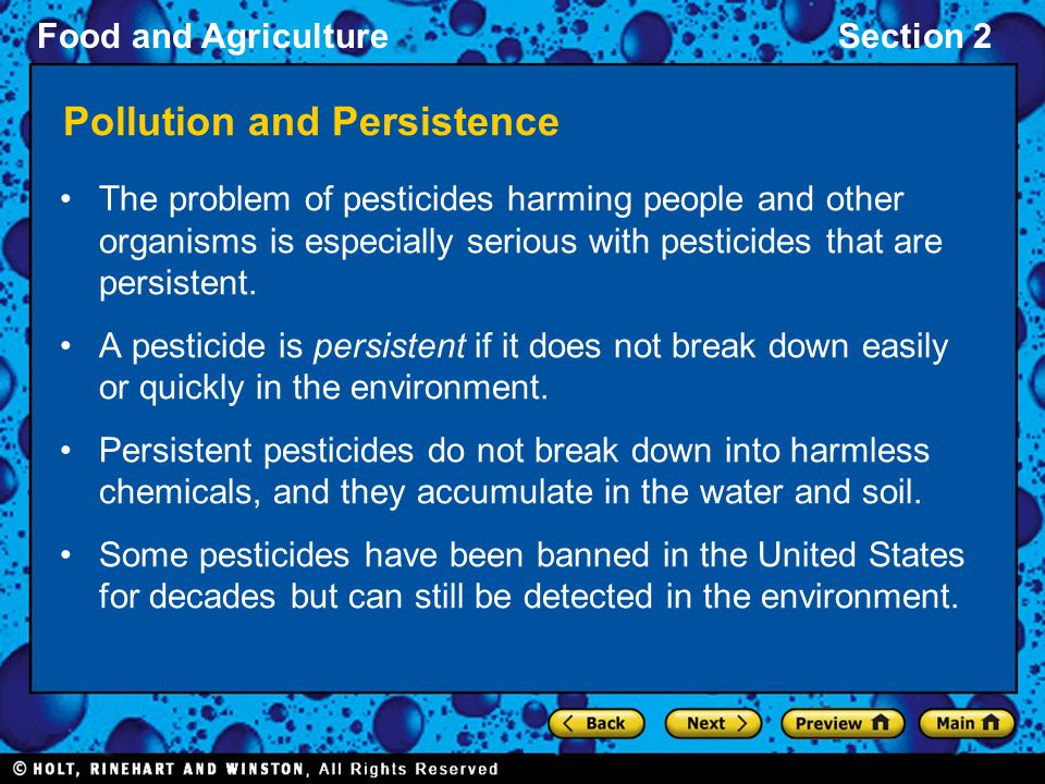 Pollution and Persistence