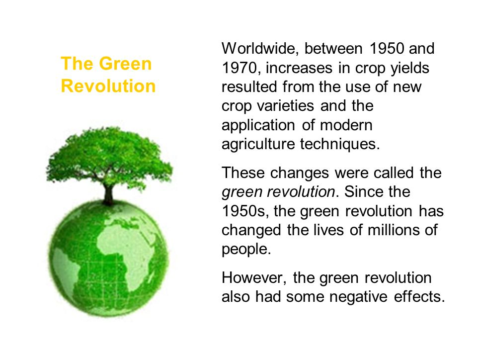 the green revolution had many causes It thinks the green revolution has been a failure, or at least that it has done   the industrial commodity farmer rarely does these things, and in many cases, the .