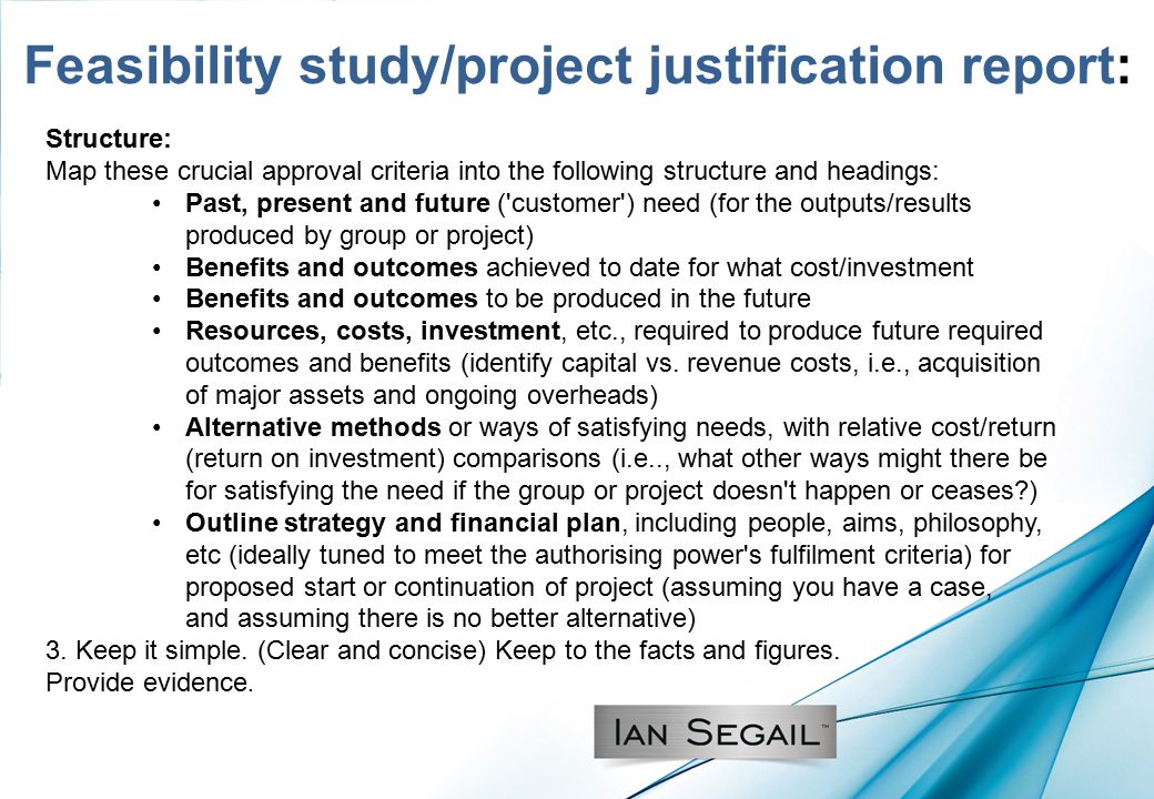 Advantages of feasibility study
