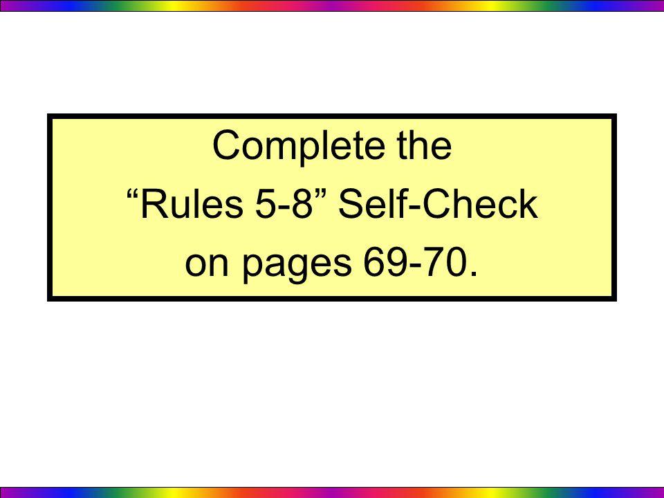 chapter 8 self check