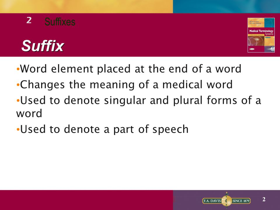 2 Lecture Notes SUFFIXES - ppt video online download