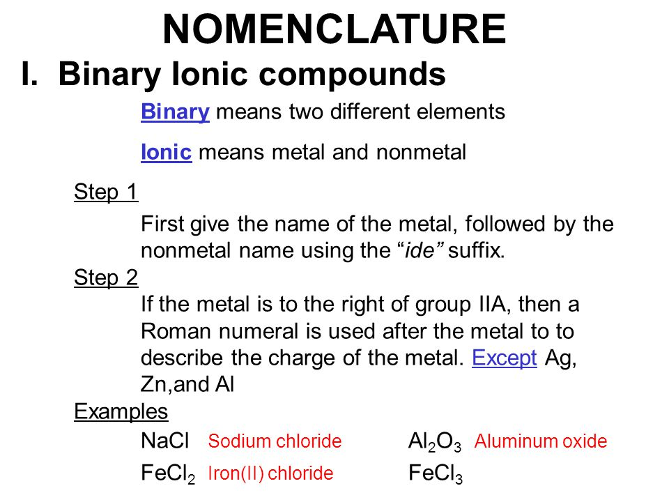 Chapter #5 Nomenclature. - ppt video online download