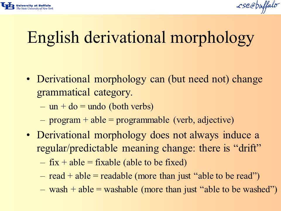 English derivational morphology