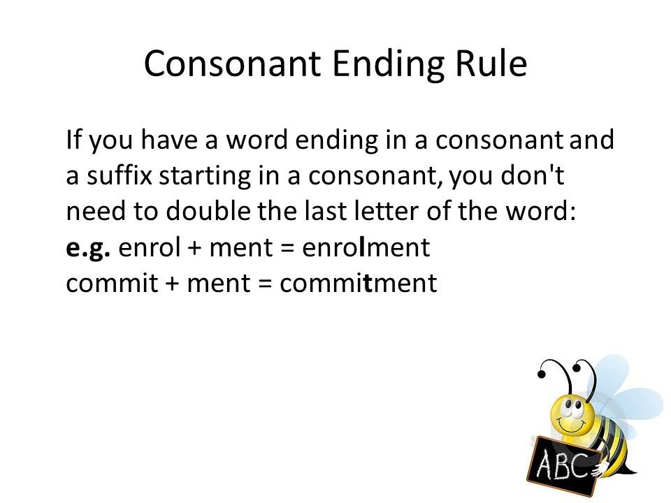 Letter Word Ending With Ment
