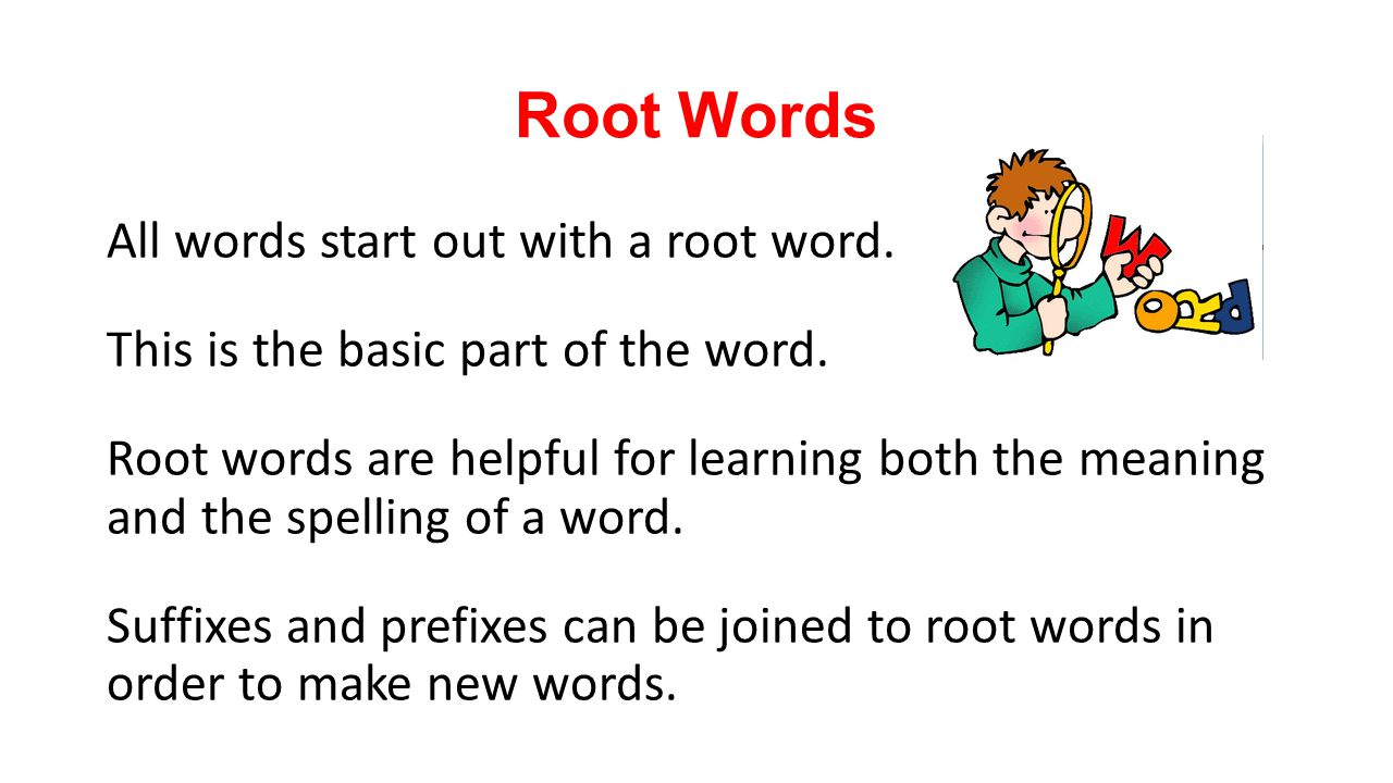 root words and their meanings pdf