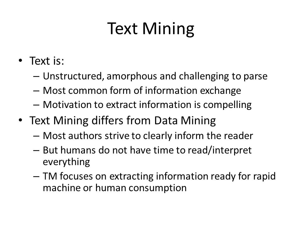 text mining Science and technology resources on the internet text mining kristen cooper plant sciences librarian university of minnesota libraries university of minnesota.