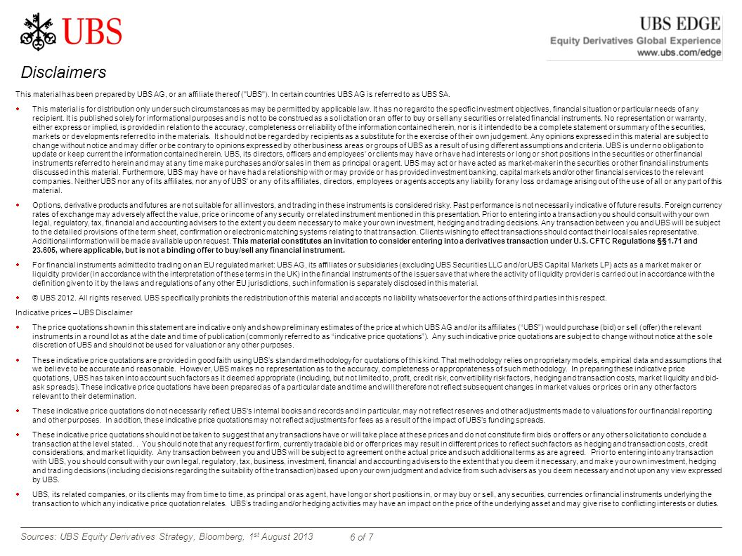 Ubs trading system ag