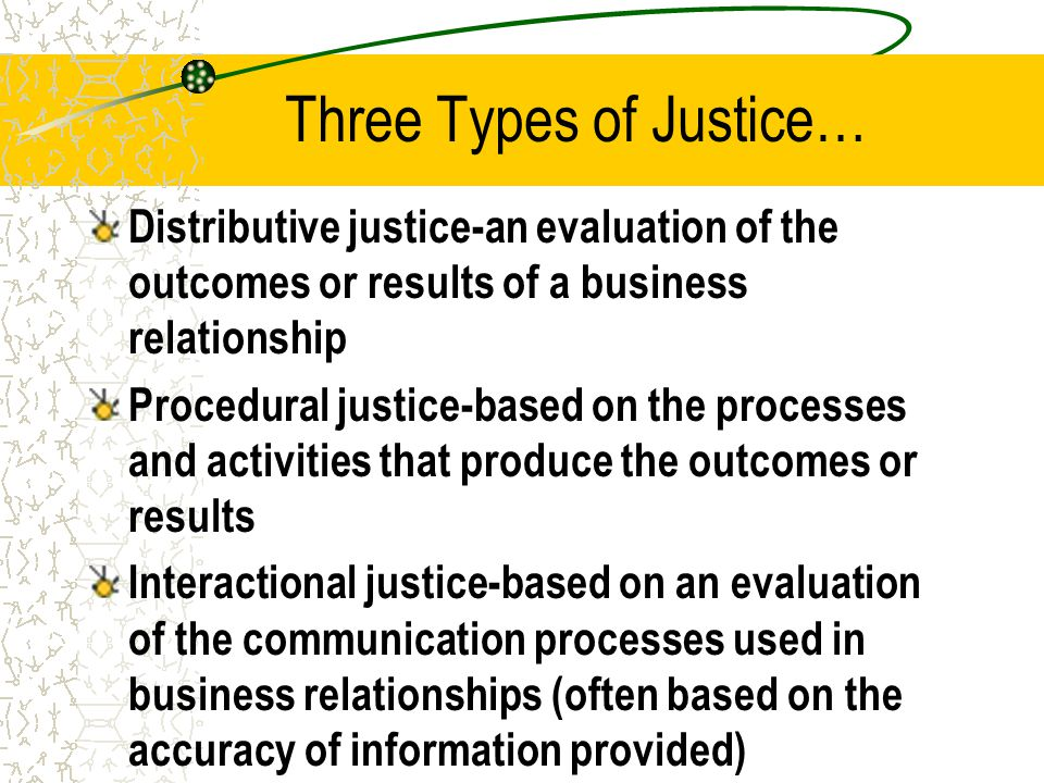 Three Types of Justice…