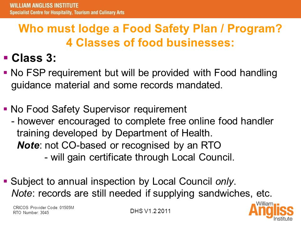 Food Safety Supervisor Refresher