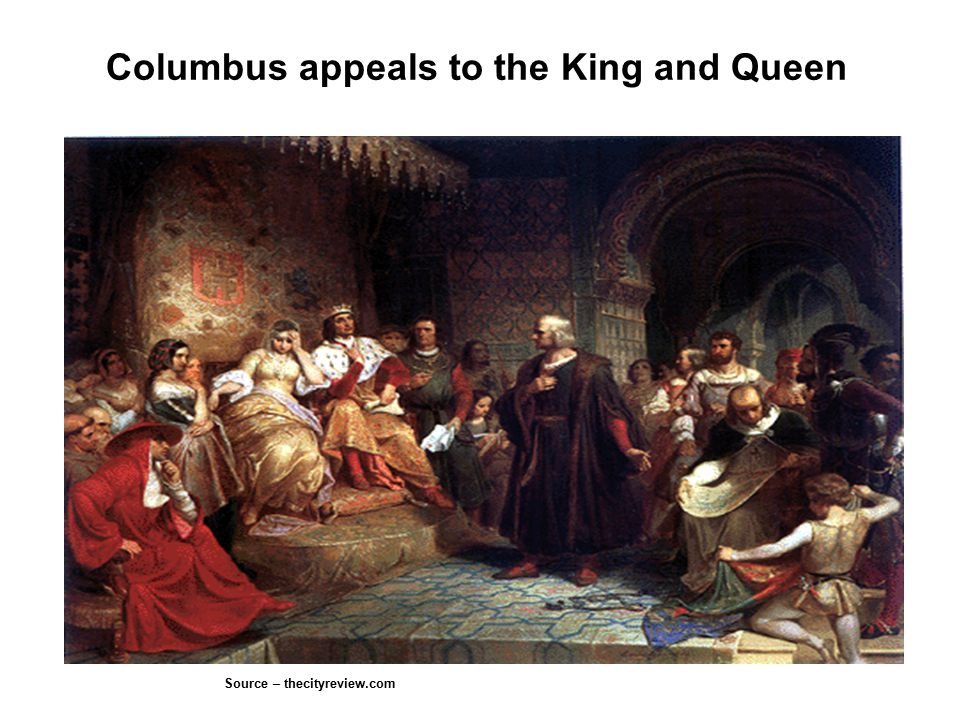 Columbus appeals to the King and Queen