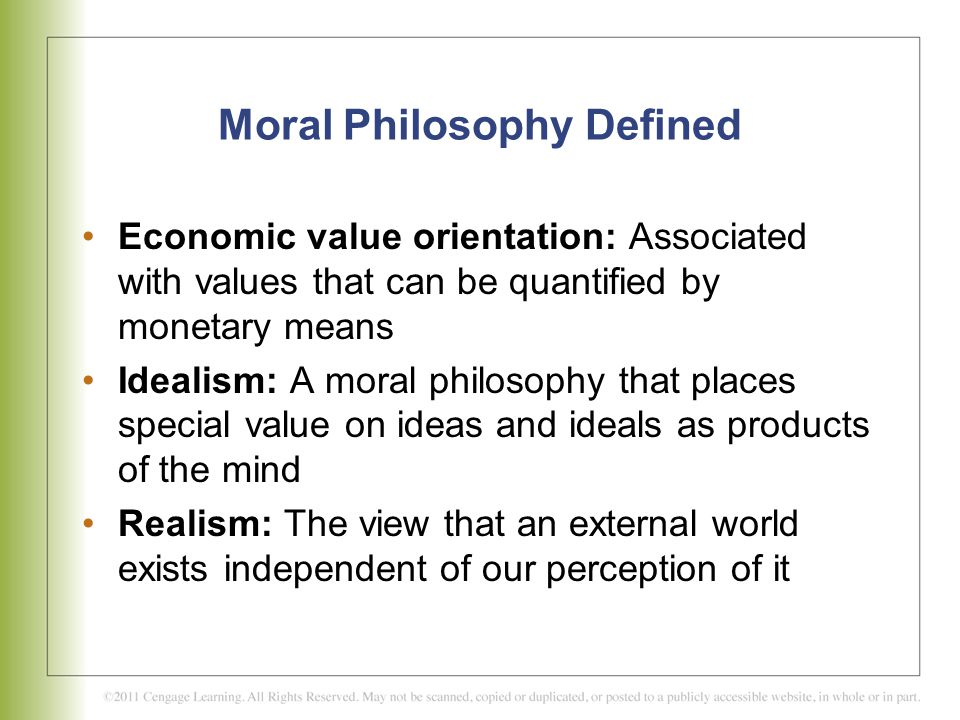 Moral Philosophy Defined