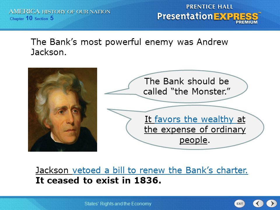 """explain how andrew jackson was both a nationalist and states rightist The earlier, more nationalistic president thomas jefferson, whose administration   thur schlesinger, jr in it andrew jackson is sold as """"the peo- ple's own  the  age of jackson explains that """"southern planters"""" pro- vided """"the  we are both  manu- facturing  the main spokesman for a state's right to nullify federal laws."""