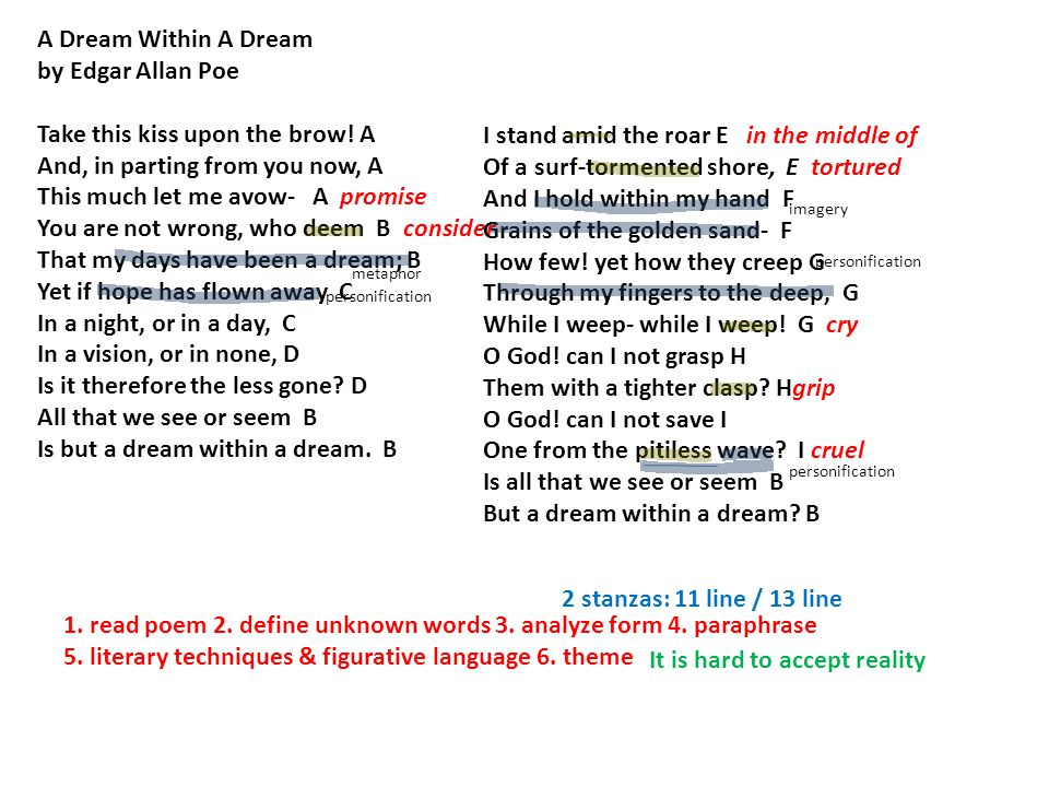 a dream within a dream essay