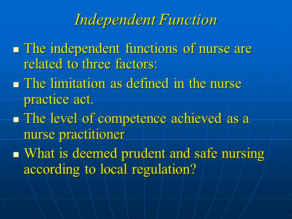 independent nurse practitioner Independent certified registered nurse practitioner (crnp) 21-2 april 2018 the current procedural terminology (cpt) and current dental terminology (cdt) codes descriptors, and other data.