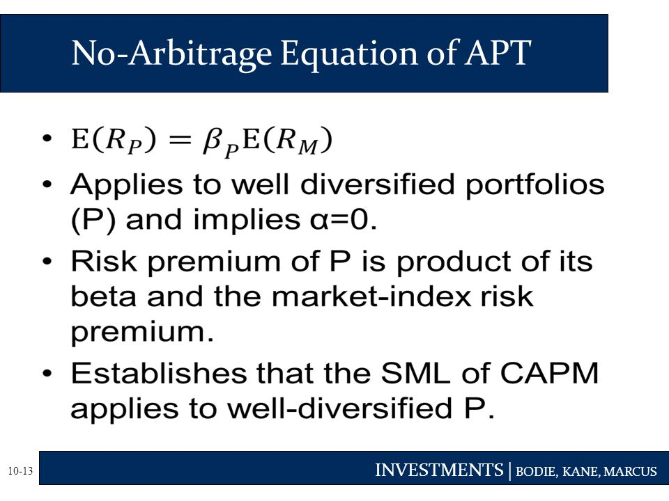 mcq arbitrage pricing theiry This question belongs to finance and discusses about formulation of arbitrage pricing theory.