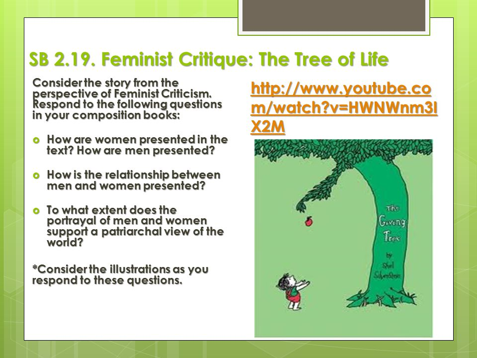 SB Feminist Critique: The Tree of Life