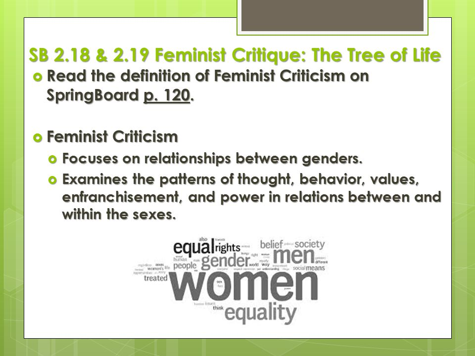 SB 2.18 & 2.19 Feminist Critique: The Tree of Life