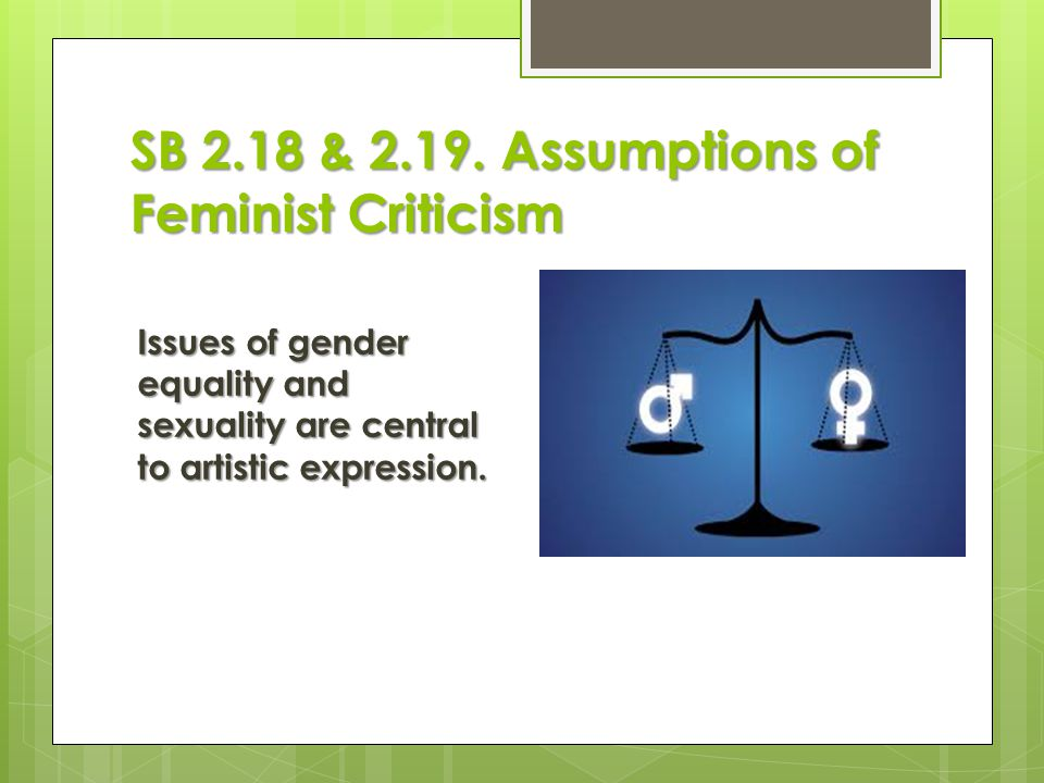 SB 2.18 & Assumptions of Feminist Criticism