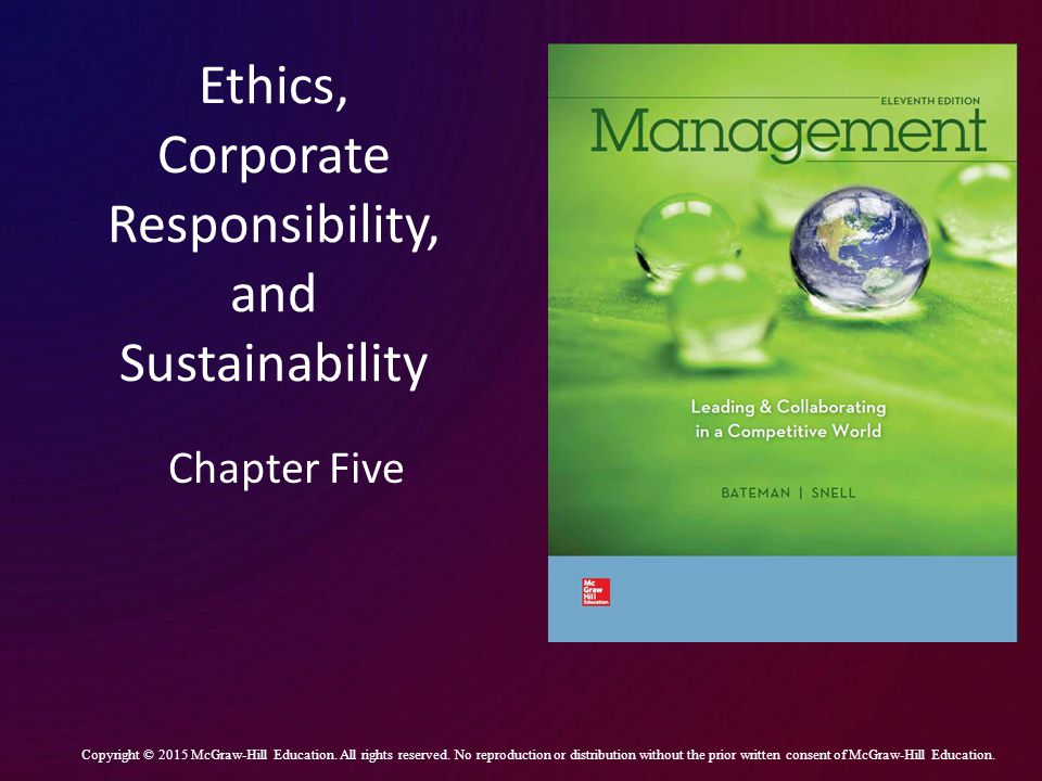 Ethics, Corporate Responsibility, and Sustainability