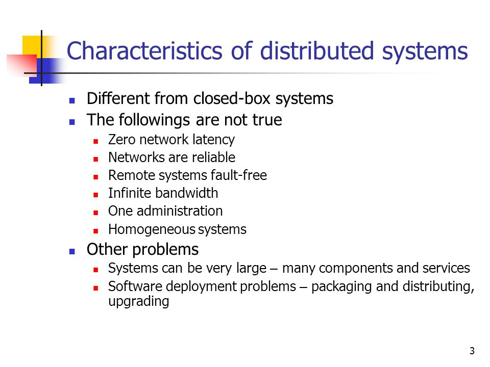 Characteristics of distributed systems