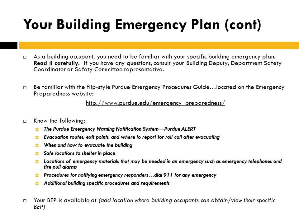 Building Emergency Plan Presentation Ppt Video Online