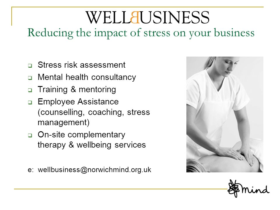 Reducing the impact of stress on your business
