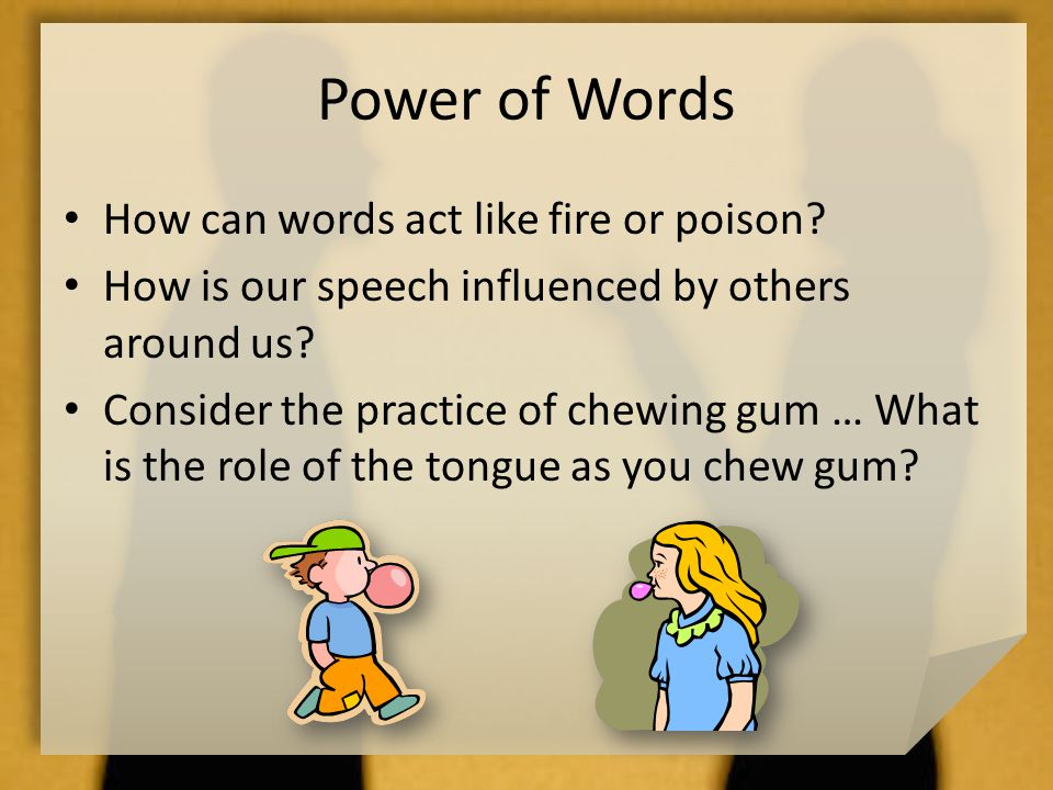 informative speech about chewing gum If you're giving an informative speech that explains an chewing gum or using slang when delivering your speech mary, dr how to pass a speech class.