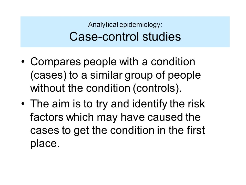 CMH    Epidemiology and Biostatistics  Fall             Tufts     Example  Nested case control