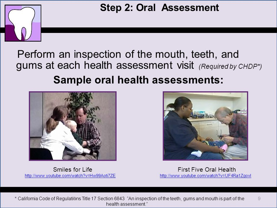 Chdp Dental Training Focus On Pm  Screening  Ppt Download