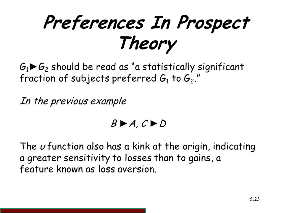 prospect theory essay Prospect theory: an analysis of decision under risk d kanheman and a tversky  published by econometrica in 1979, it is one of the most cited papers in social sciences in 2002, daniel kahneman received the nobel prize for having integrated  to sum up, prospect theory retains the bilinear form that underlies.