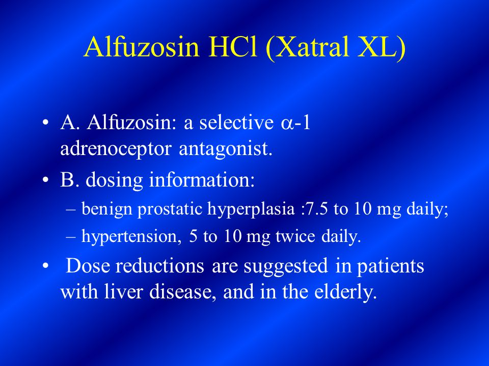 alfuzosin 10mg once daily