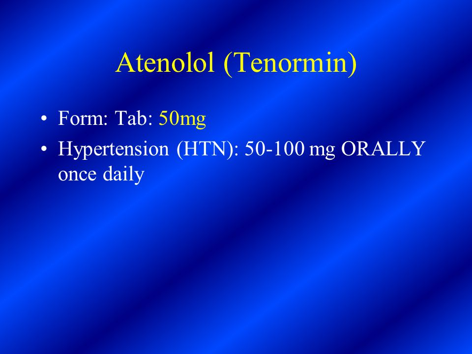 atenolol 50mg daily