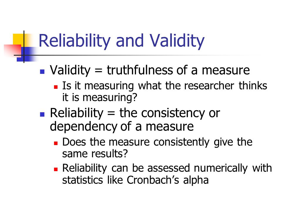 reliability and validity in research pdf
