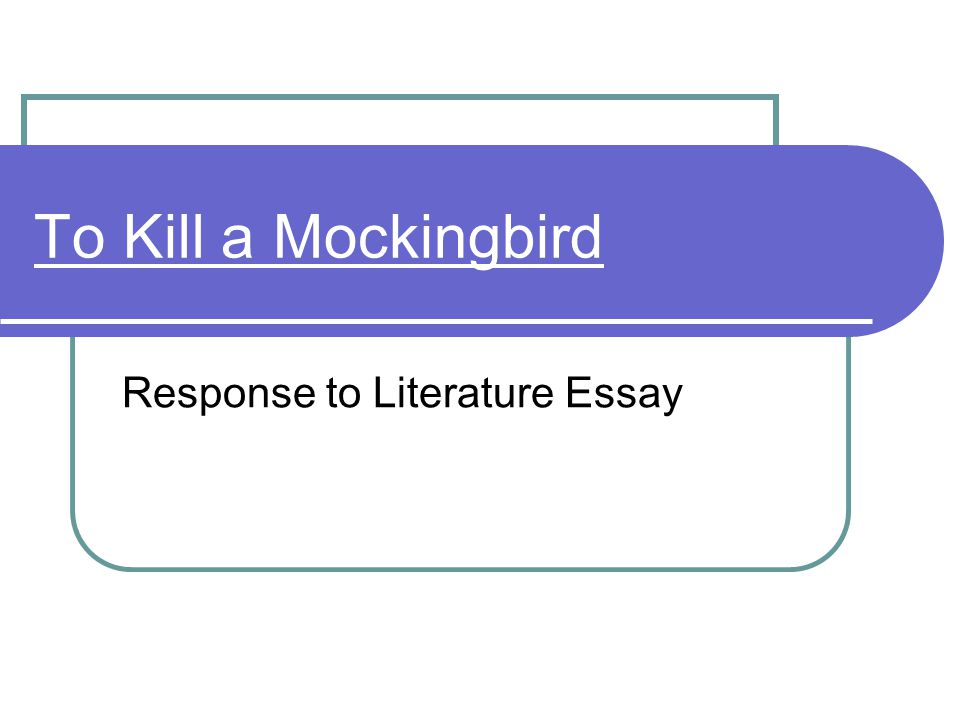 a response to literature essay