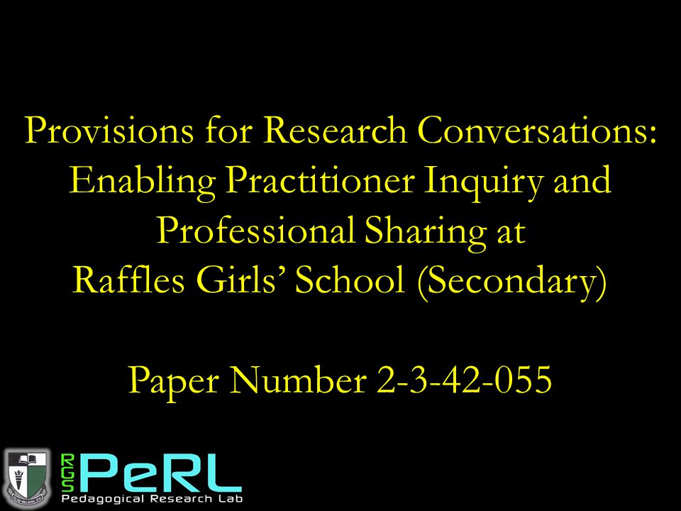 Provisions for Research Conversations: