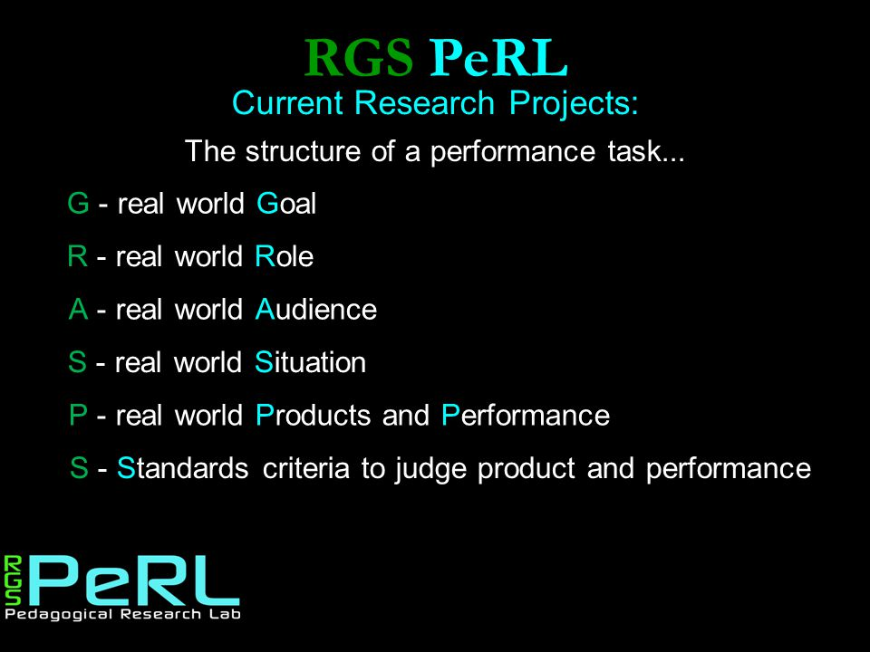 RGS PeRL Current Research Projects:
