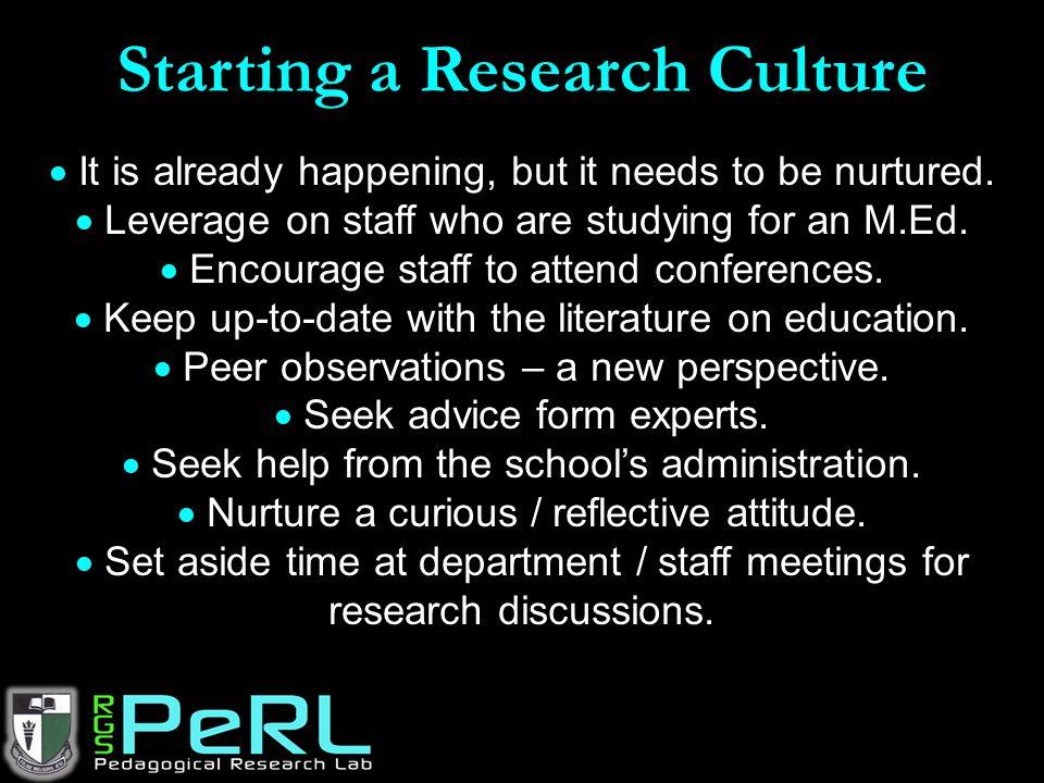 Starting a Research Culture