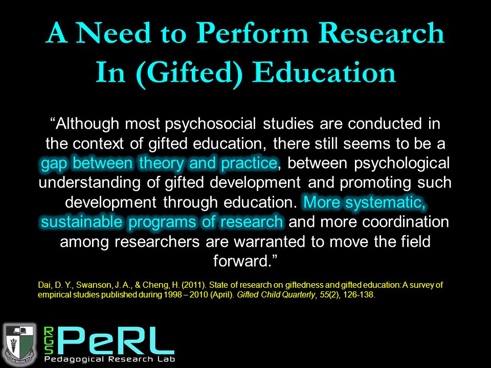 A Need to Perform Research