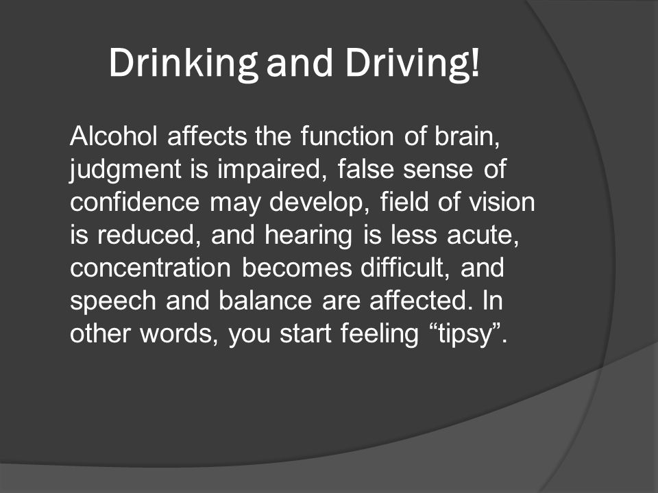drunk driving presentation speech The bureau of special licensing issues over 5,000 licenses for speech and hearing  in addition, the bureau certifies dui and domestic violence services.