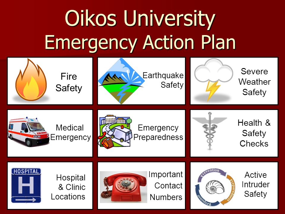 Oikos University Emergency Action Plan  Ppt Video Online Download