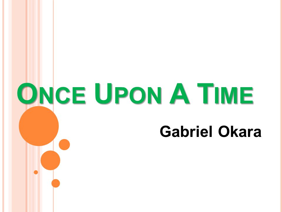 once upon a time by gabriel okara english literature essay Essay about once upon a time  hide and seek and once upon a time by gabriel okara share a theme of childhood - [tags: english literature] 1279 words.