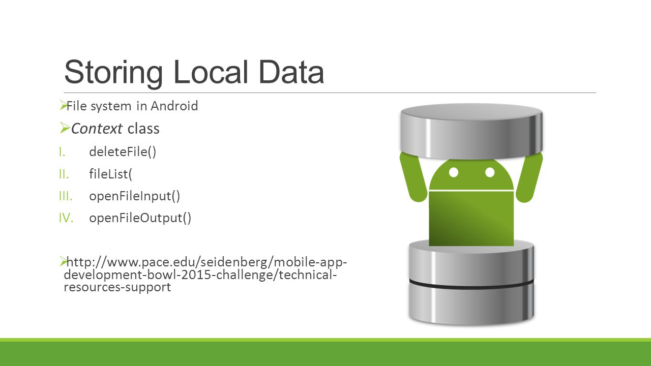 Storing Local Data Context class File system in Android deleteFile()