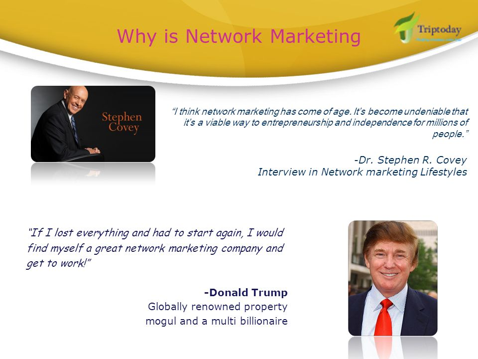 Why is Network Marketing
