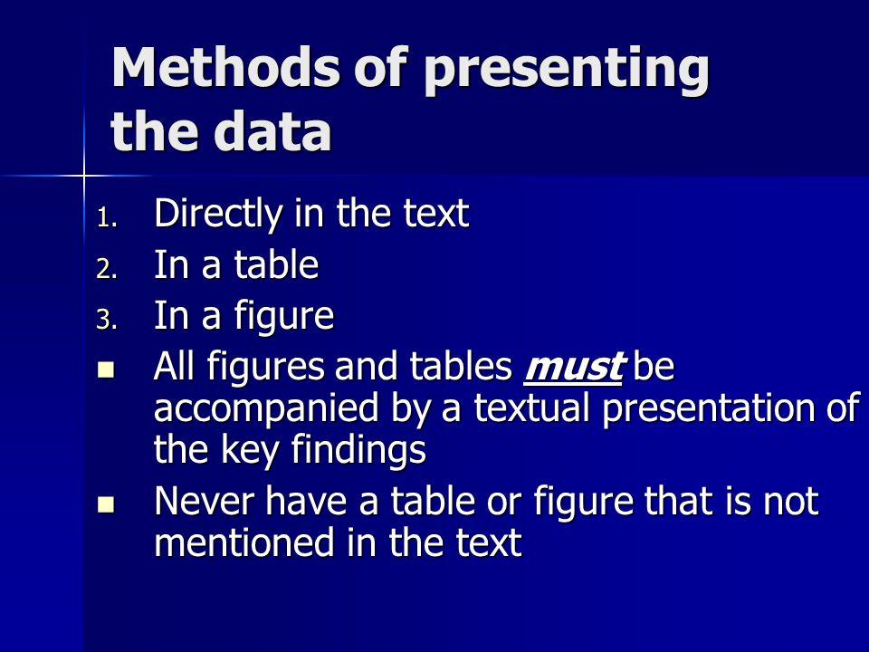 methods of data presentation pdf