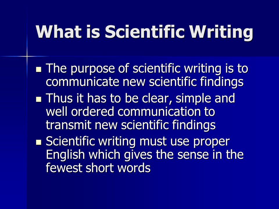 Scientific paper writing