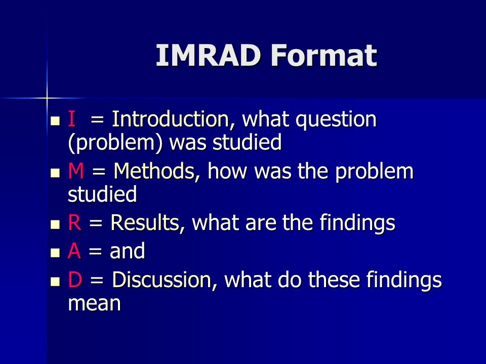 Imrad format examples