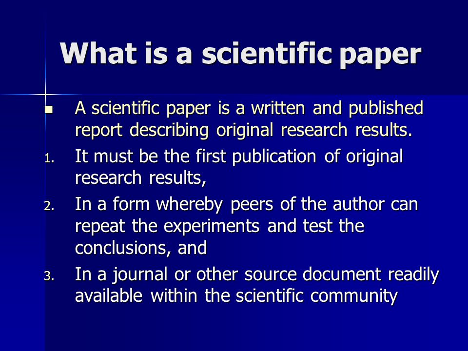 Published research paper scientific