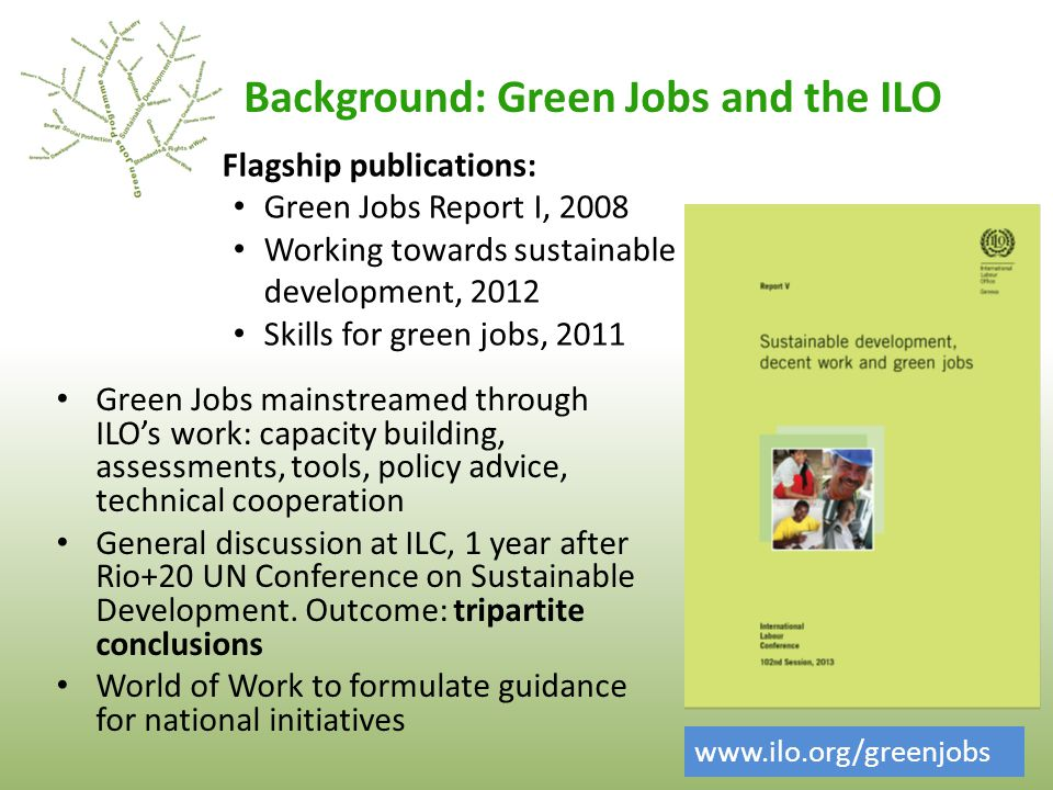 Background: Green Jobs and the ILO
