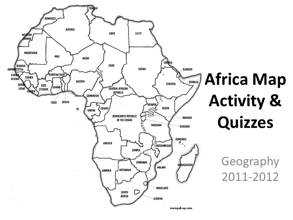 africa map activity