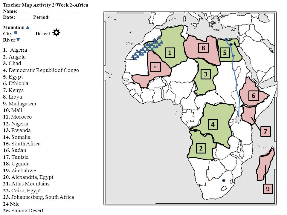 Africa Map Activity Quizzes Ppt Video Online Download - Map of egypt libya and sudan